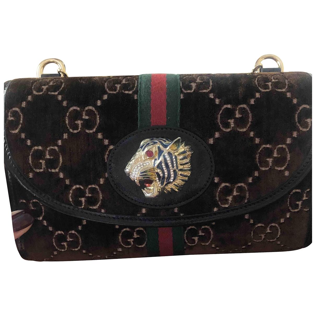 Gucci Animalier Brown Velvet Clutch bag for Women \N