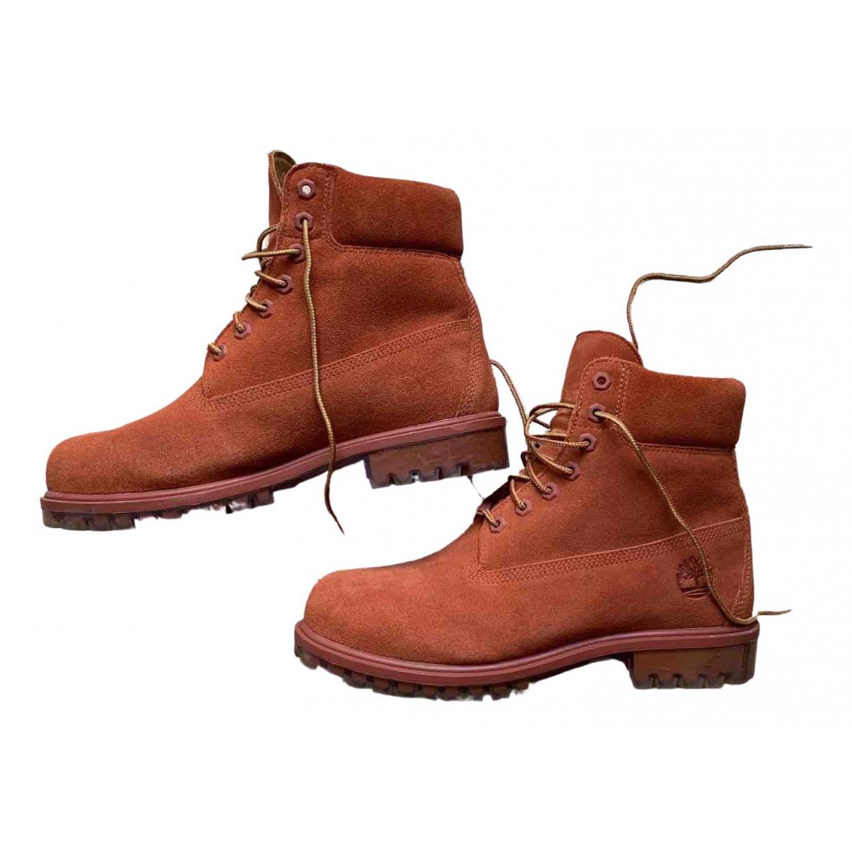 Timberland \N Stiefel in  Orange Leder