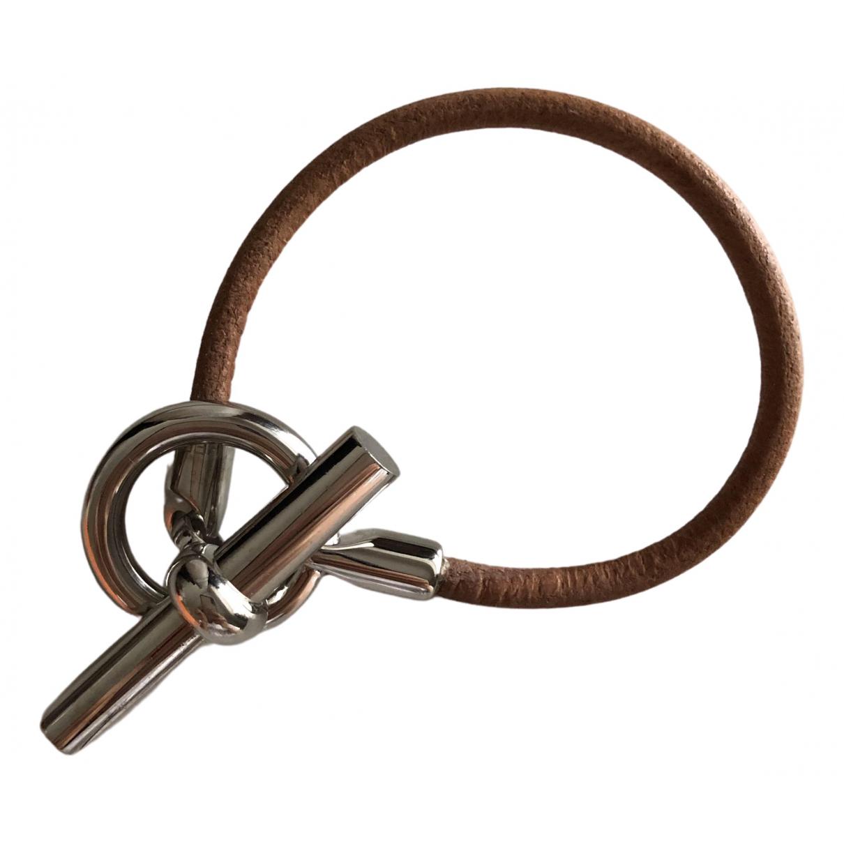 Hermes - Bracelet Glenan pour femme en cuir - marron