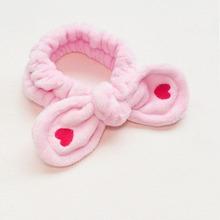 1 Stueck Bade Kopfband mit Herzen Stickereien