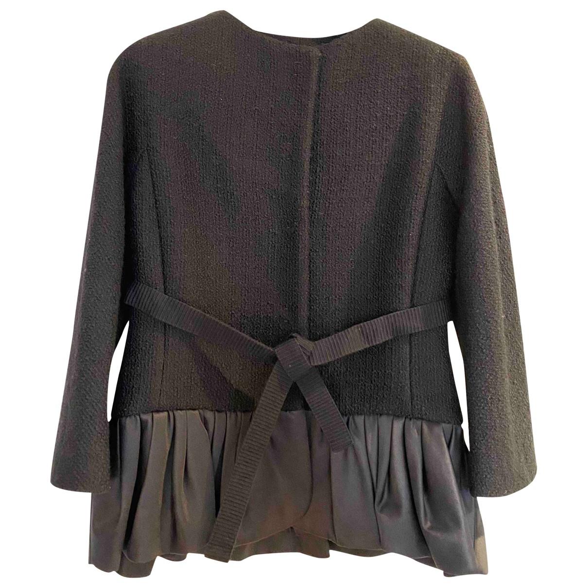 Giambattista Valli \N Black Wool jacket for Women 40 IT