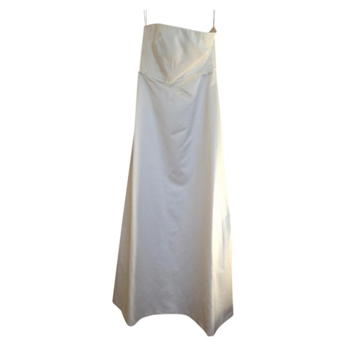 Max Mara \N Kleid in  Weiss Polyester