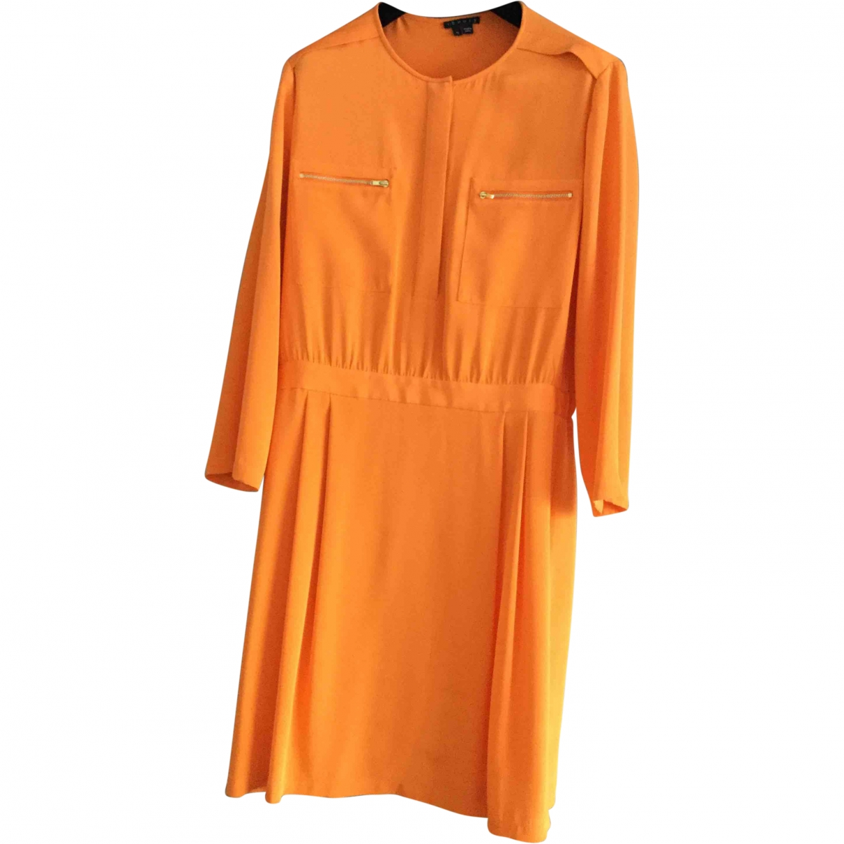 Theory \N Kleid in  Orange Seide