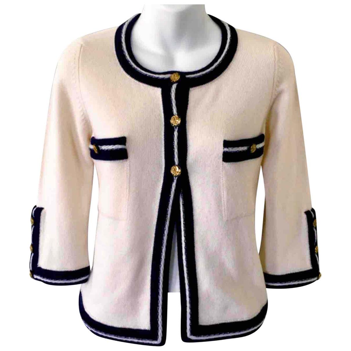 Chanel - Pull   pour femme en cachemire - beige