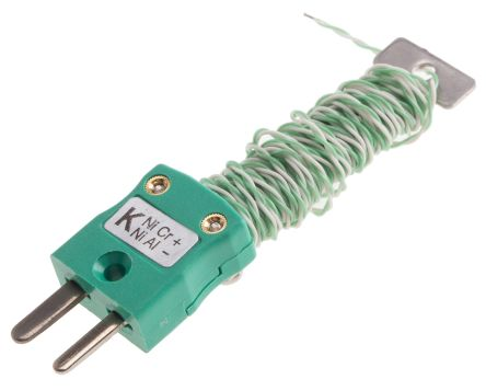 RS PRO Type K Thermocouple 2m Length, → +220°C