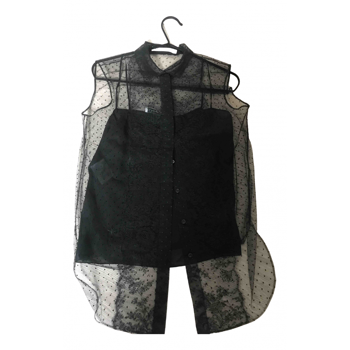 Dior N Black Lace  top for Women 38 FR