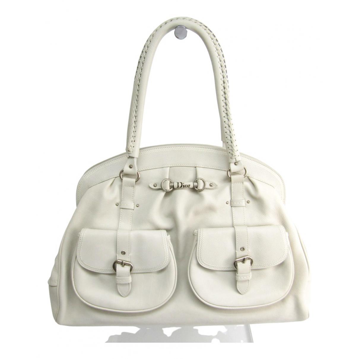 Dior - Sac a main   pour femme en cuir - blanc