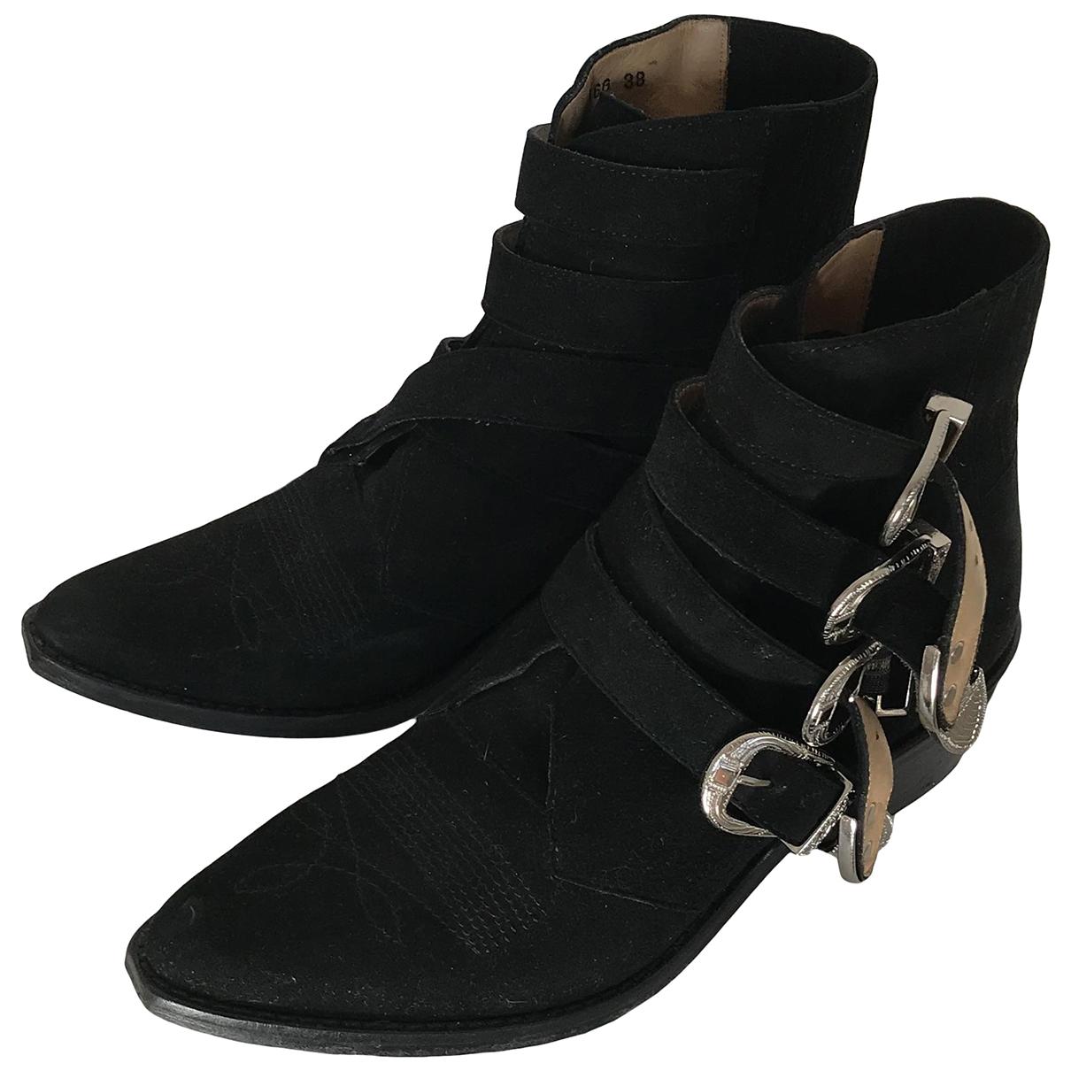 Toga Pulla - Bottes   pour femme en suede - noir