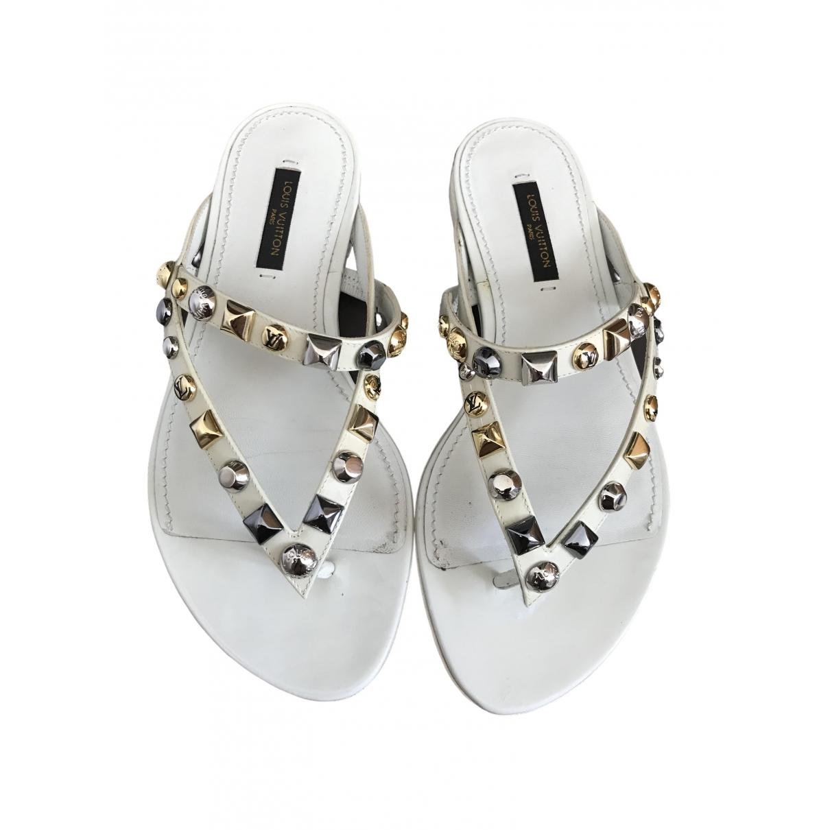 Louis Vuitton - Sandales   pour femme en cuir - ecru