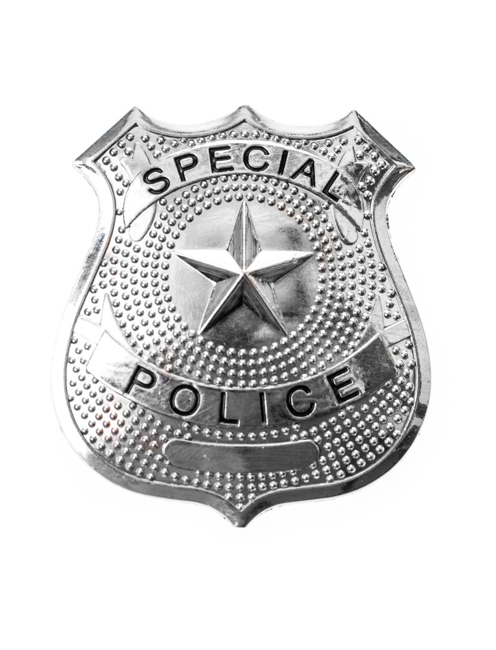 Kostuemzubehor Polizeimarke Special Police silber