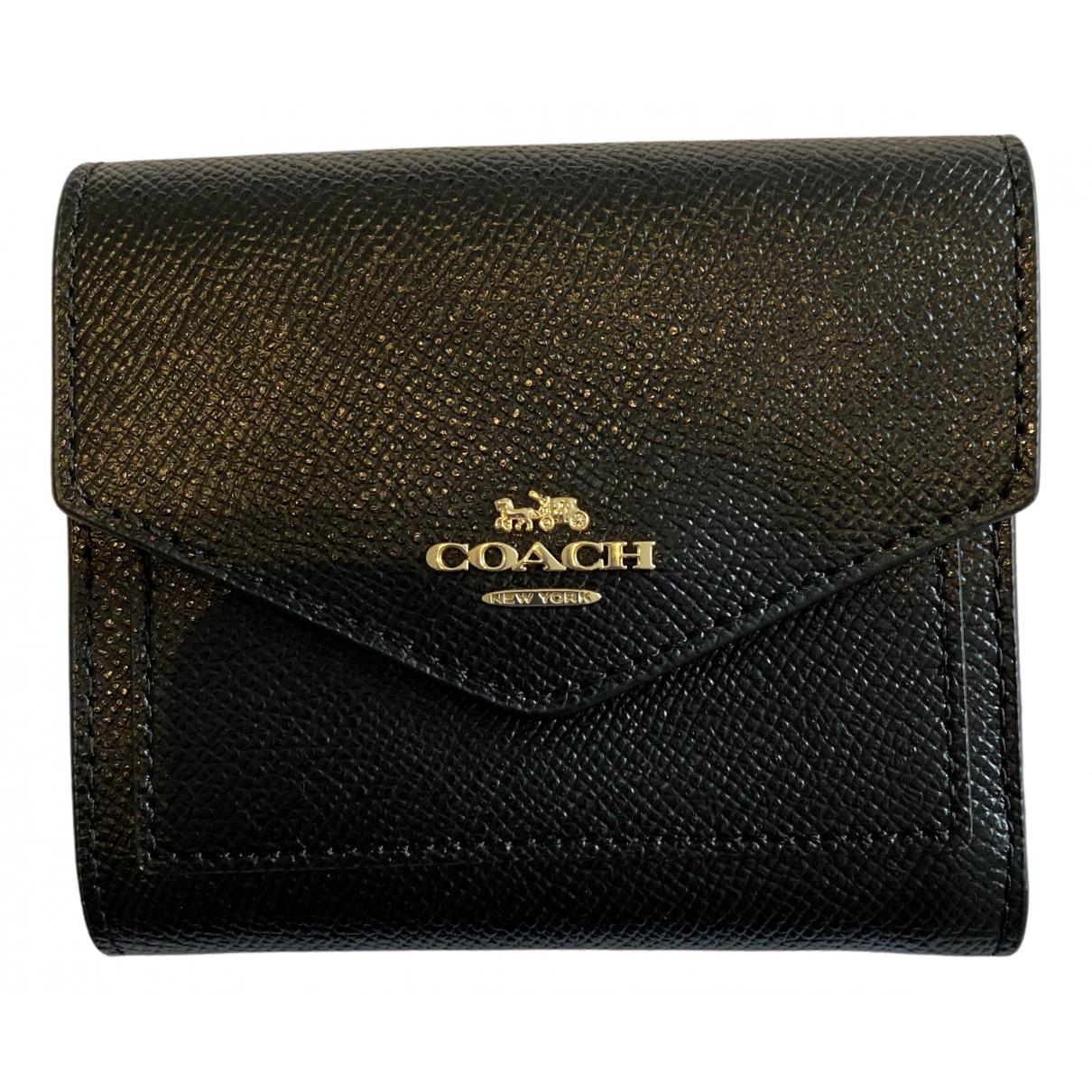 Coach - Petite maroquinerie   pour femme en cuir - noir