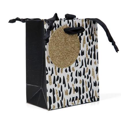Cadeau Sac Présent Sac Confetti Glitter Petite Taille 5.5*4.25*2.5in, 1Pc