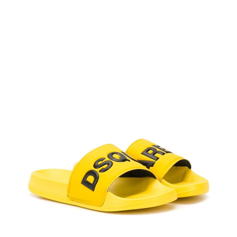 Dsquared2 Logo Sliders Colour: YELLOW, Size: 34