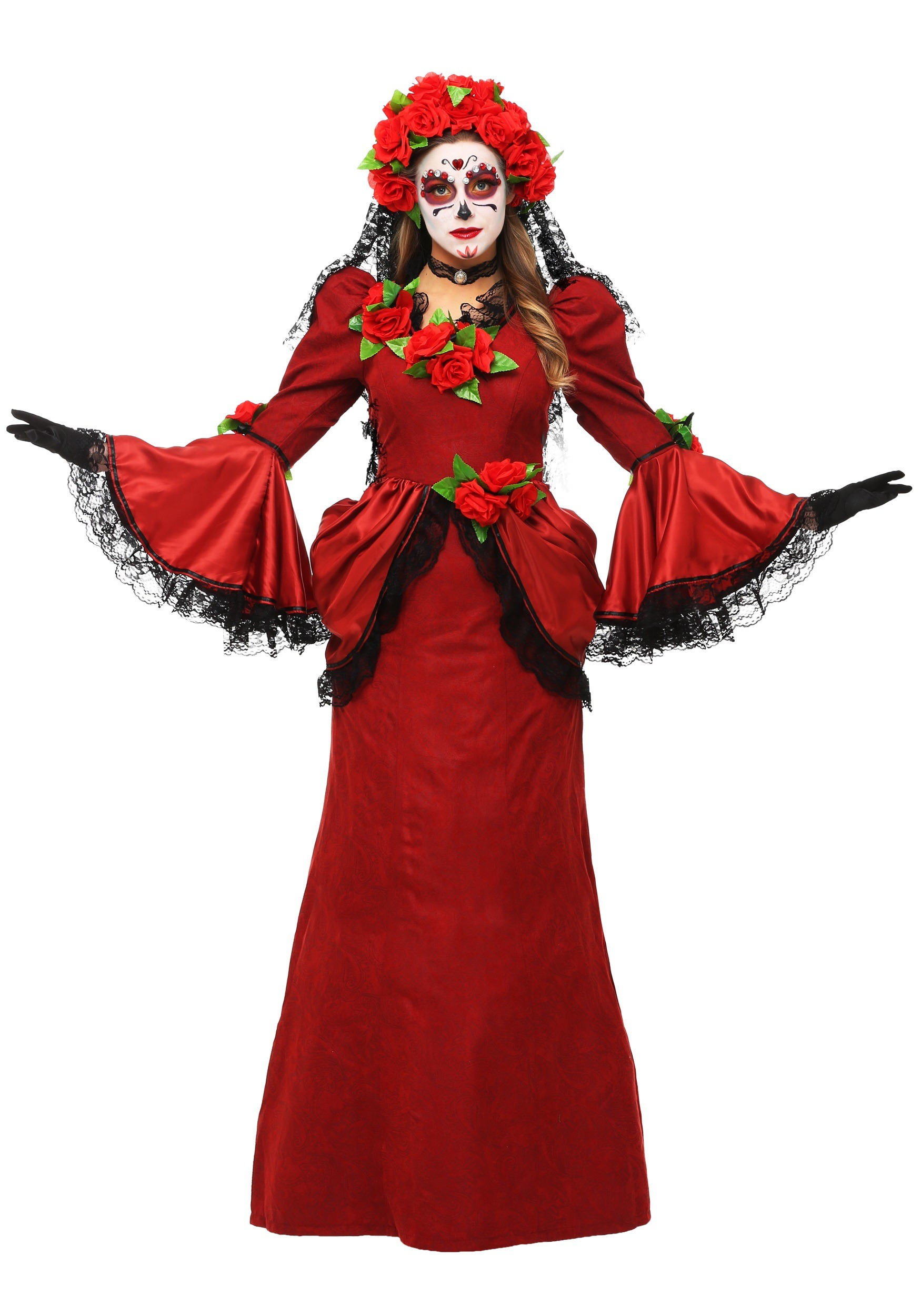 Plus Size Women's Day of the Dead Costume