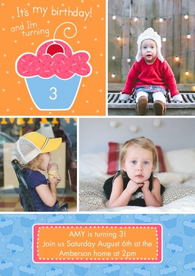 Kids Birthday Party Invites 5x7 Cards, Premium Cardstock 120lb with Elegant Corners, Card & Stationery -It's My Birthday