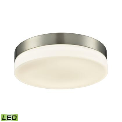 FML4075-10-16M Holmby Integrated LED Round Flush Mount in Satin Nickel with Opal Glass -