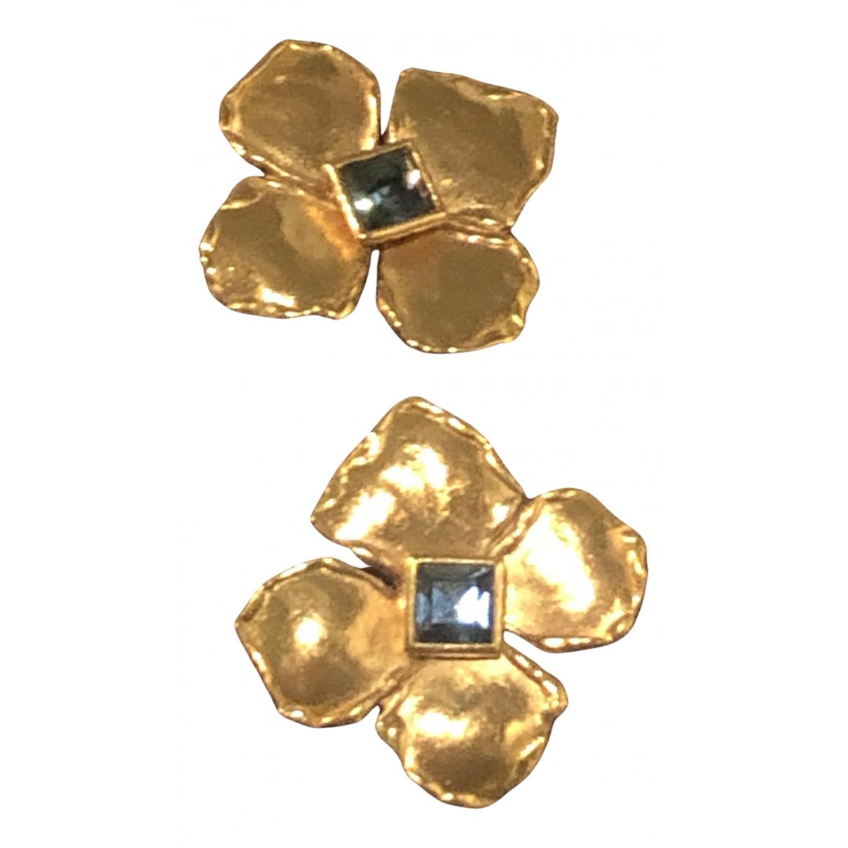 Yves Saint Laurent - Boucles doreilles   pour femme en acier - dore