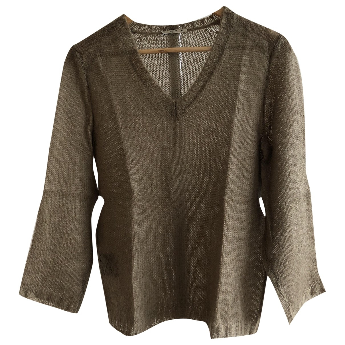 Prada \N Camel Wool Knitwear for Women 42 IT