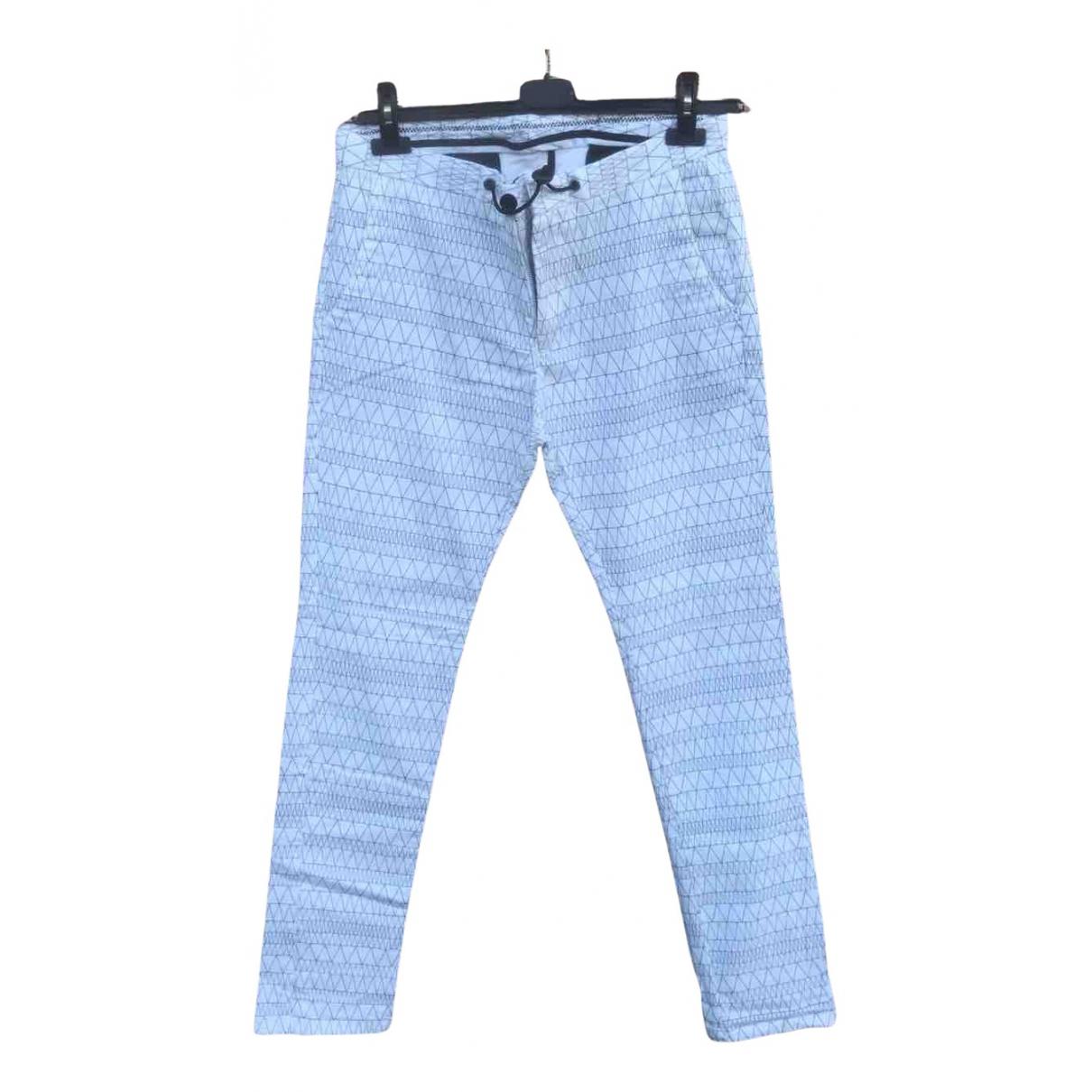 Zara N White Cotton Trousers for Men 48 IT