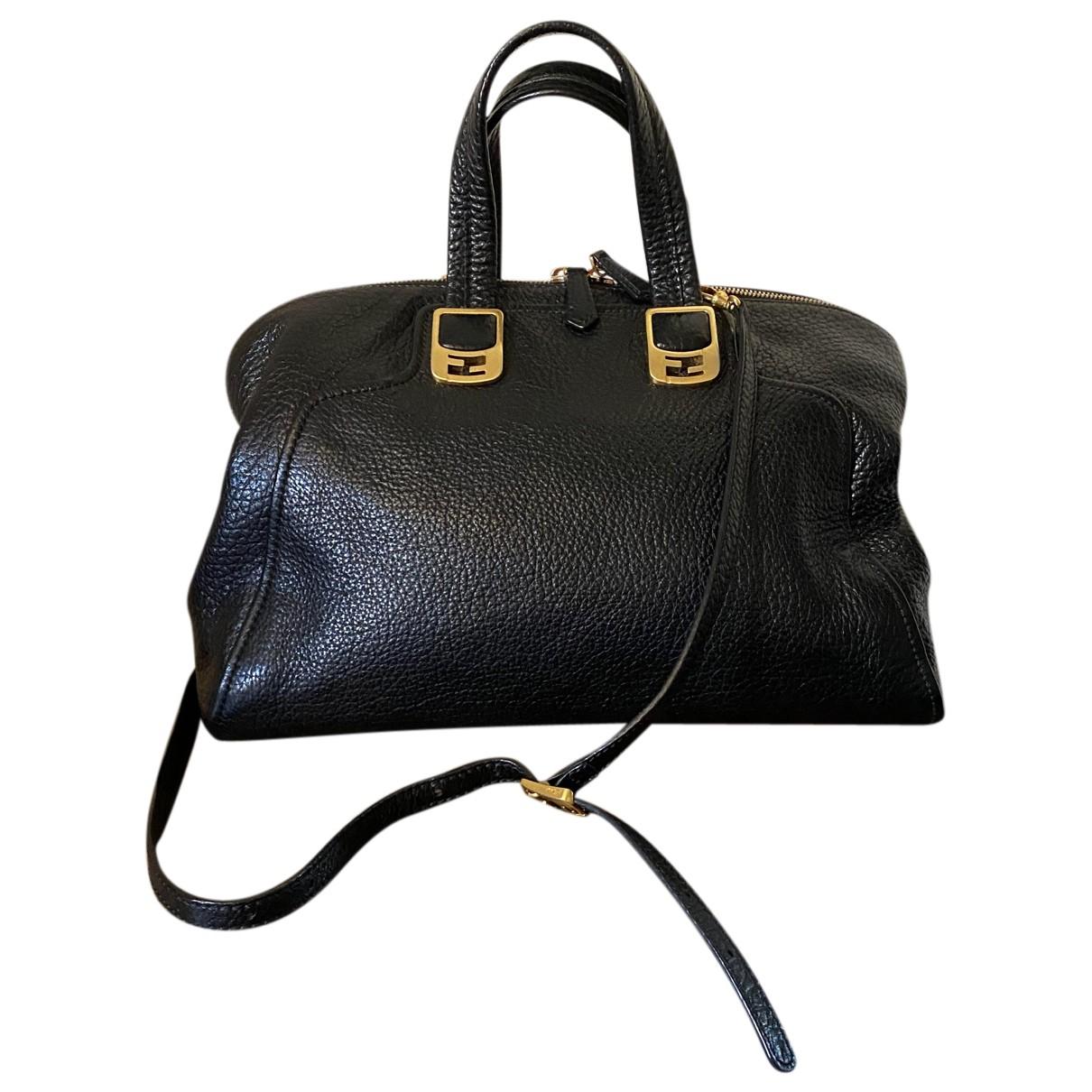 Fendi Chameleon Black Leather handbag for Women N