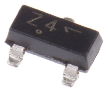 ON Semiconductor , 6.2V Zener Diode 6% 300 mW SMT 3-Pin SOT-23