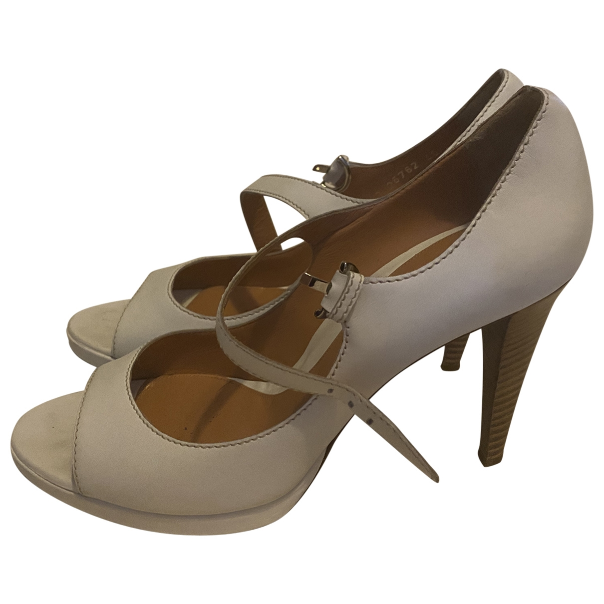 Sergio Rossi \N White Leather Sandals for Women 40 EU