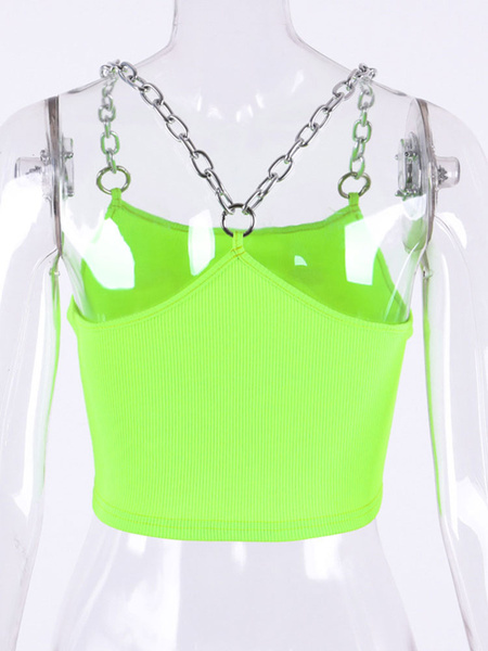 Milanoo White Cami Top Chains Strap Sexy Camis For Women