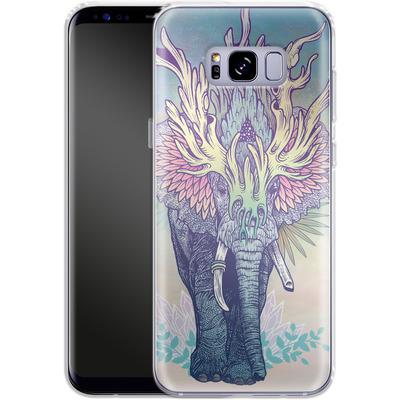 Samsung Galaxy S8 Plus Silikon Handyhuelle - Spirit Elephant von Mat Miller