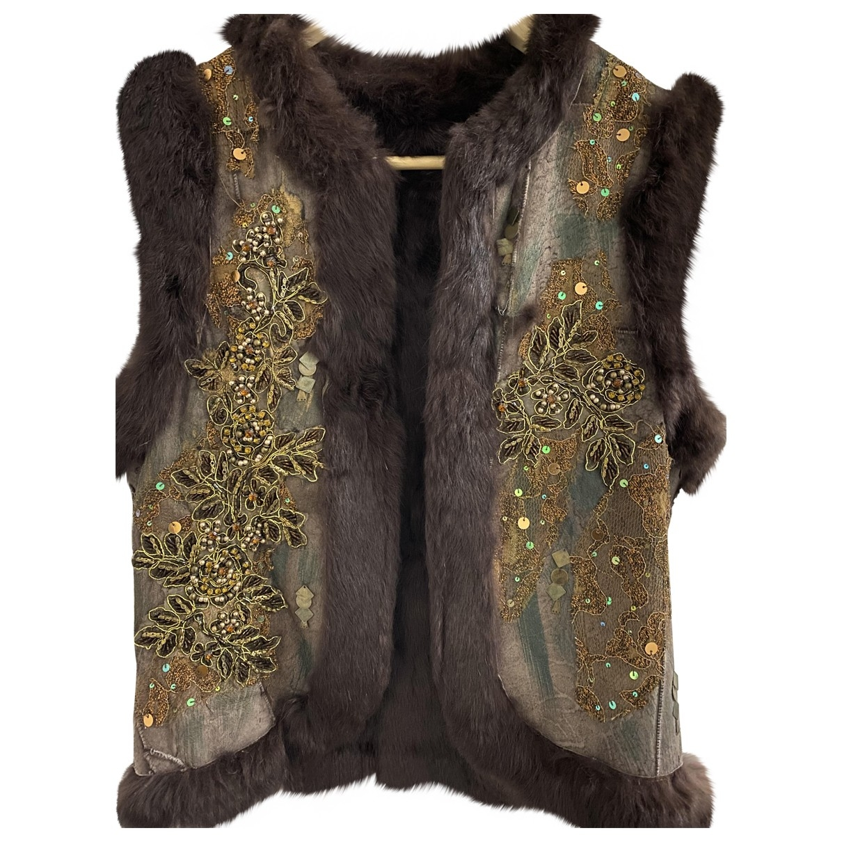 Non Signé / Unsigned \N Brown Rabbit jacket for Women L International