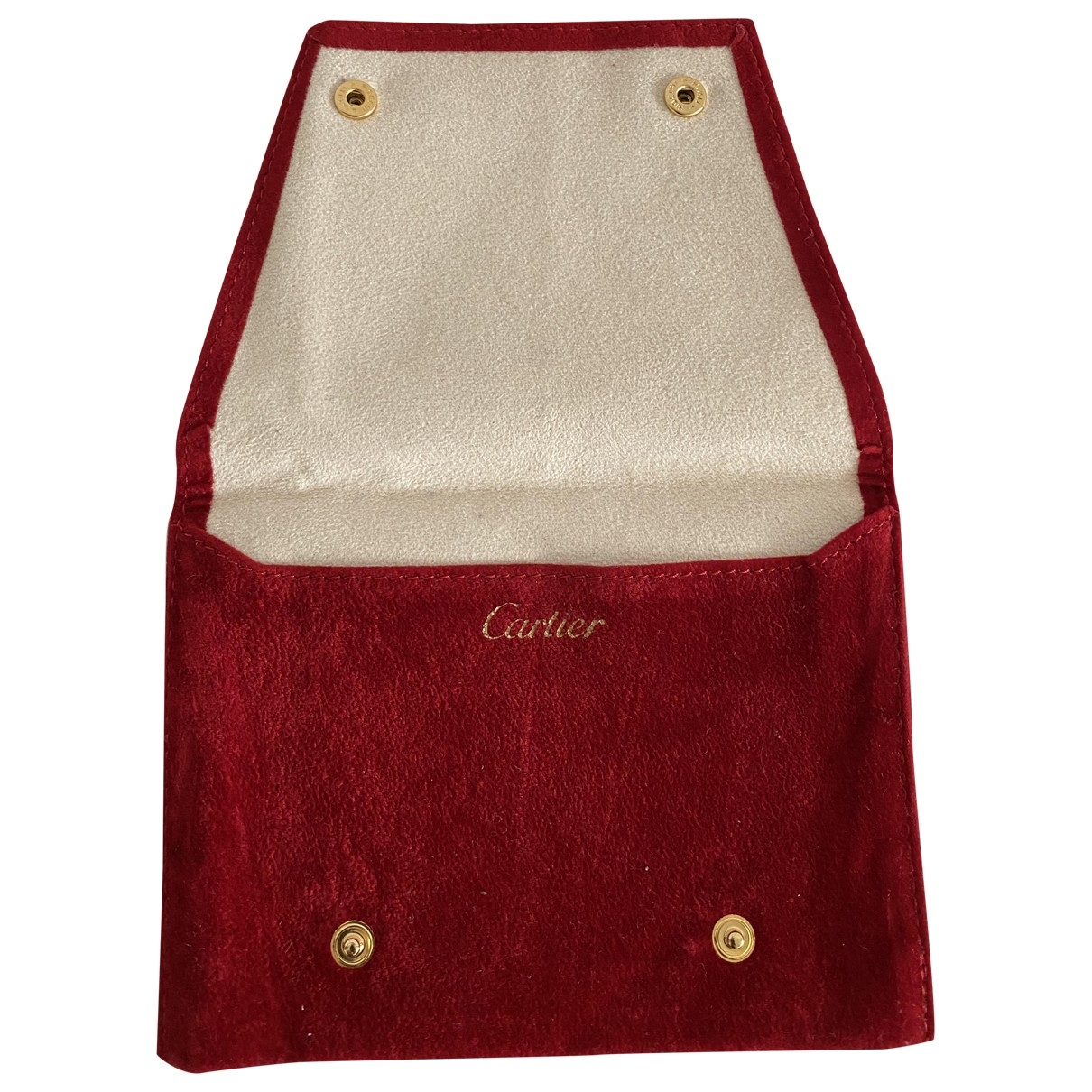 Cartier \N Accessoires und Dekoration in  Rot Samt