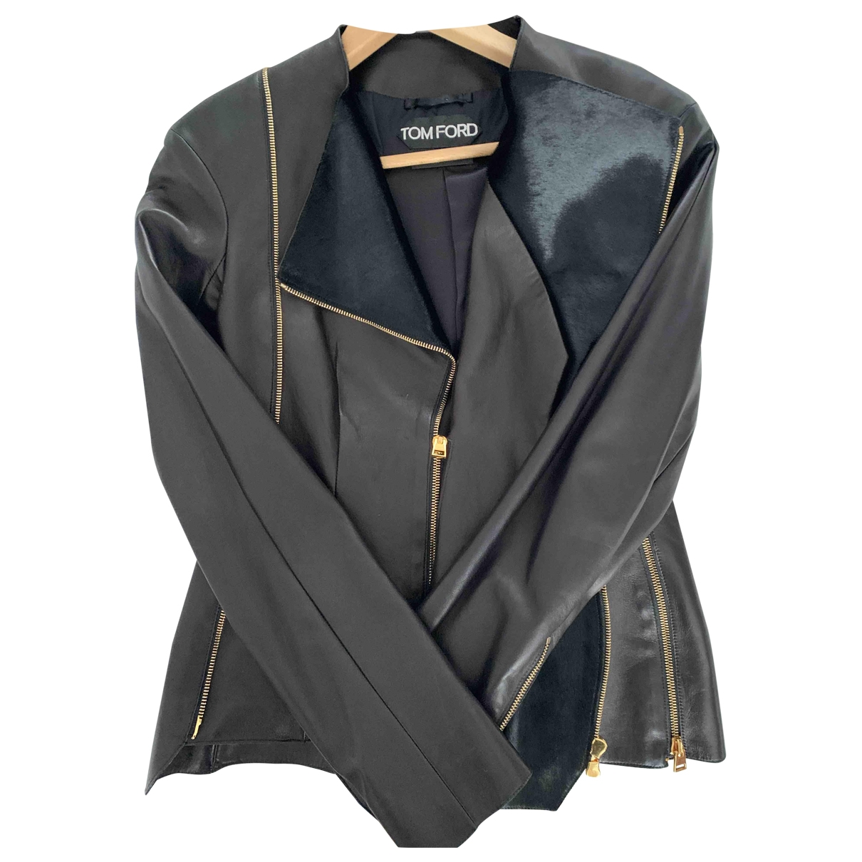 Tom Ford \N Jacke in  Schwarz Leder