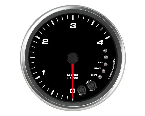 SpeedHut GR4.5-TACH-04-PM Tachometer Gauge 4K RPM Shift-light Pedestal Mount