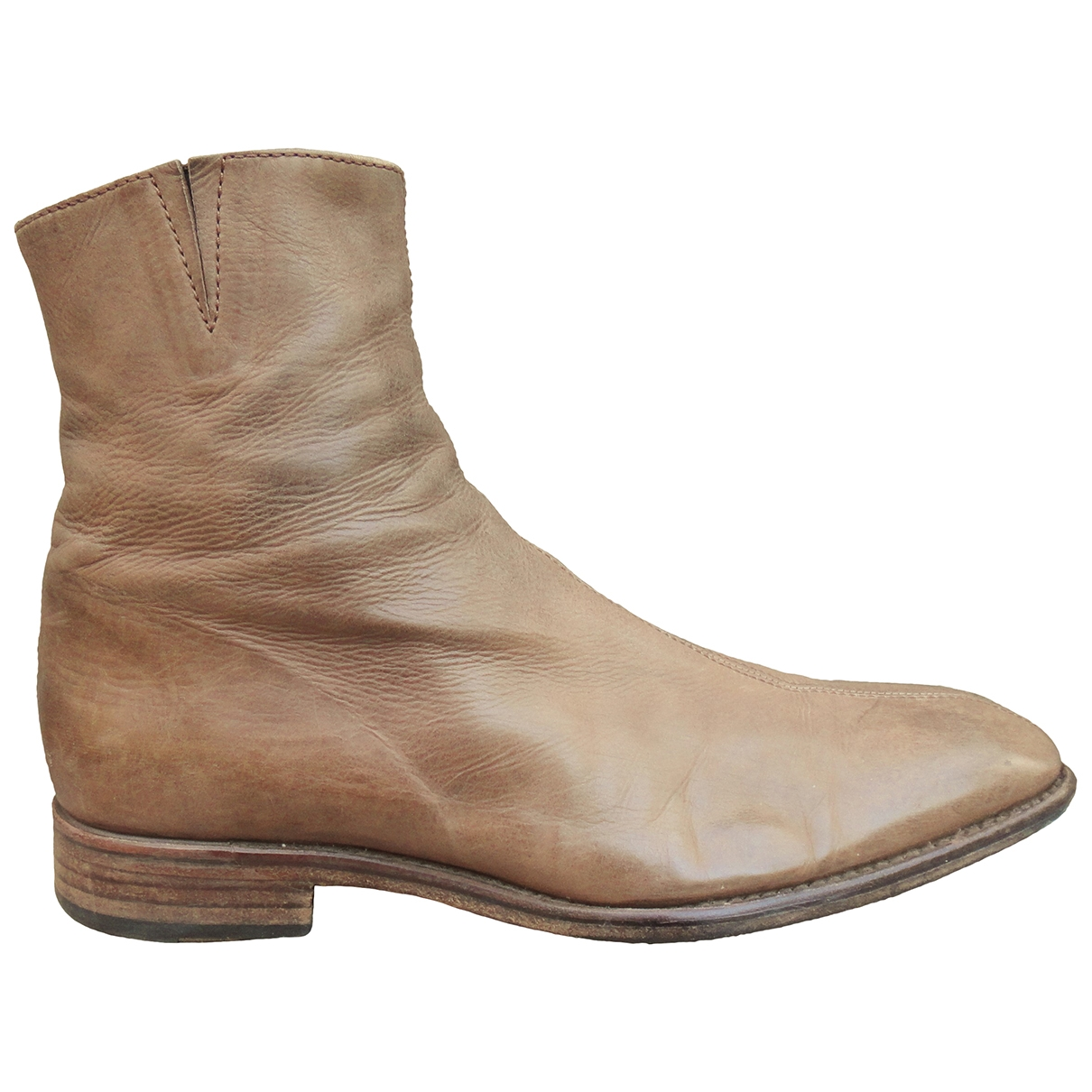 Non Signé / Unsigned \N Beige Leather Boots for Men 43 EU