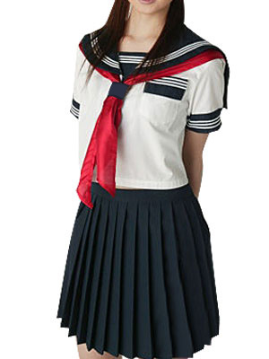 Milanoo Short Sleeves Sailor School Uniform Cosplay Costume Halloween