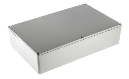 RS PRO Grey Die Cast Aluminium Enclosure, Shielded, 275 x 175 x 65.5mm