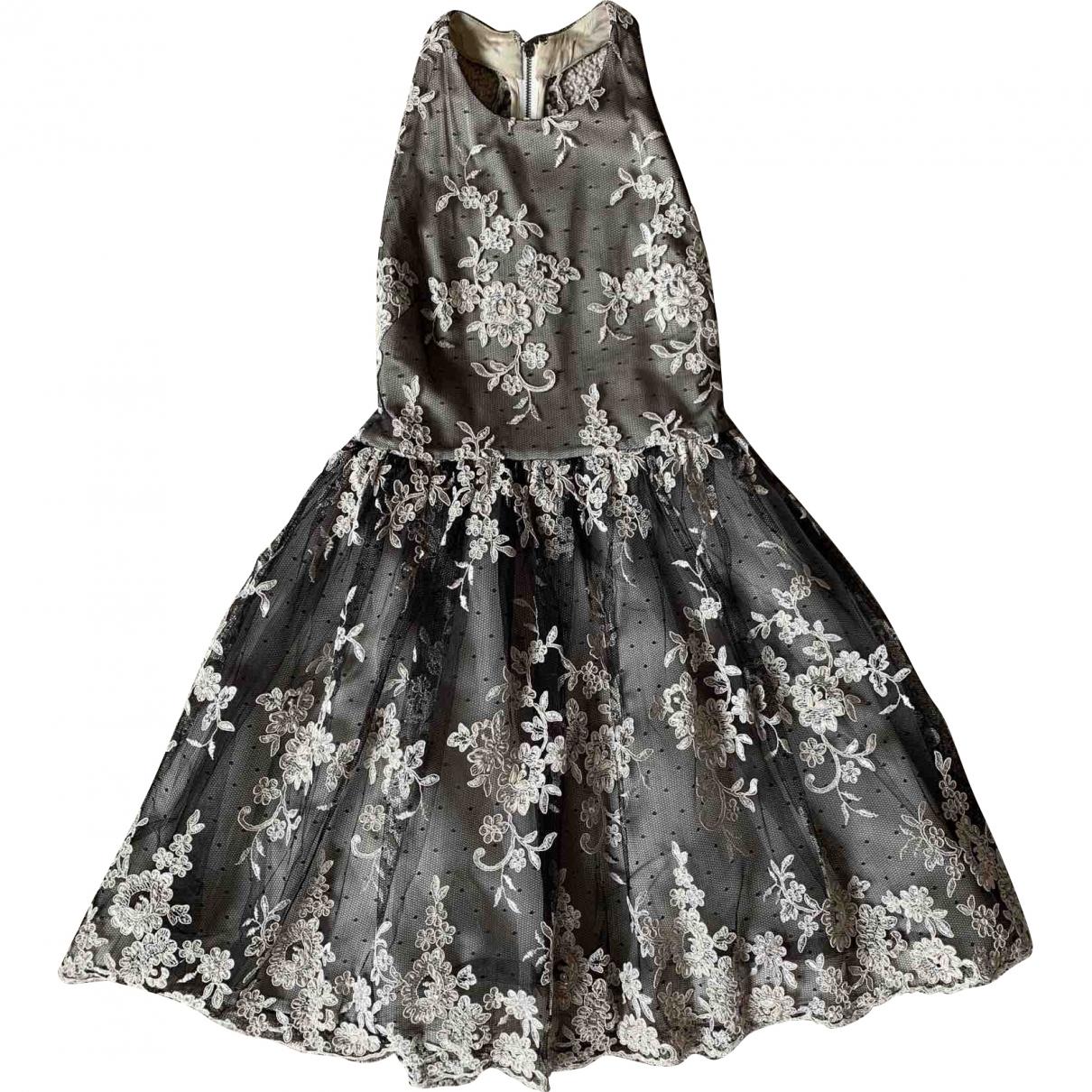 Alice & Olivia \N Kleid in  Beige Polyester
