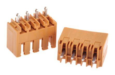 Weidmüller , OMNIMATE SL, 4 Way, 1 Row, Straight PCB Header (5)