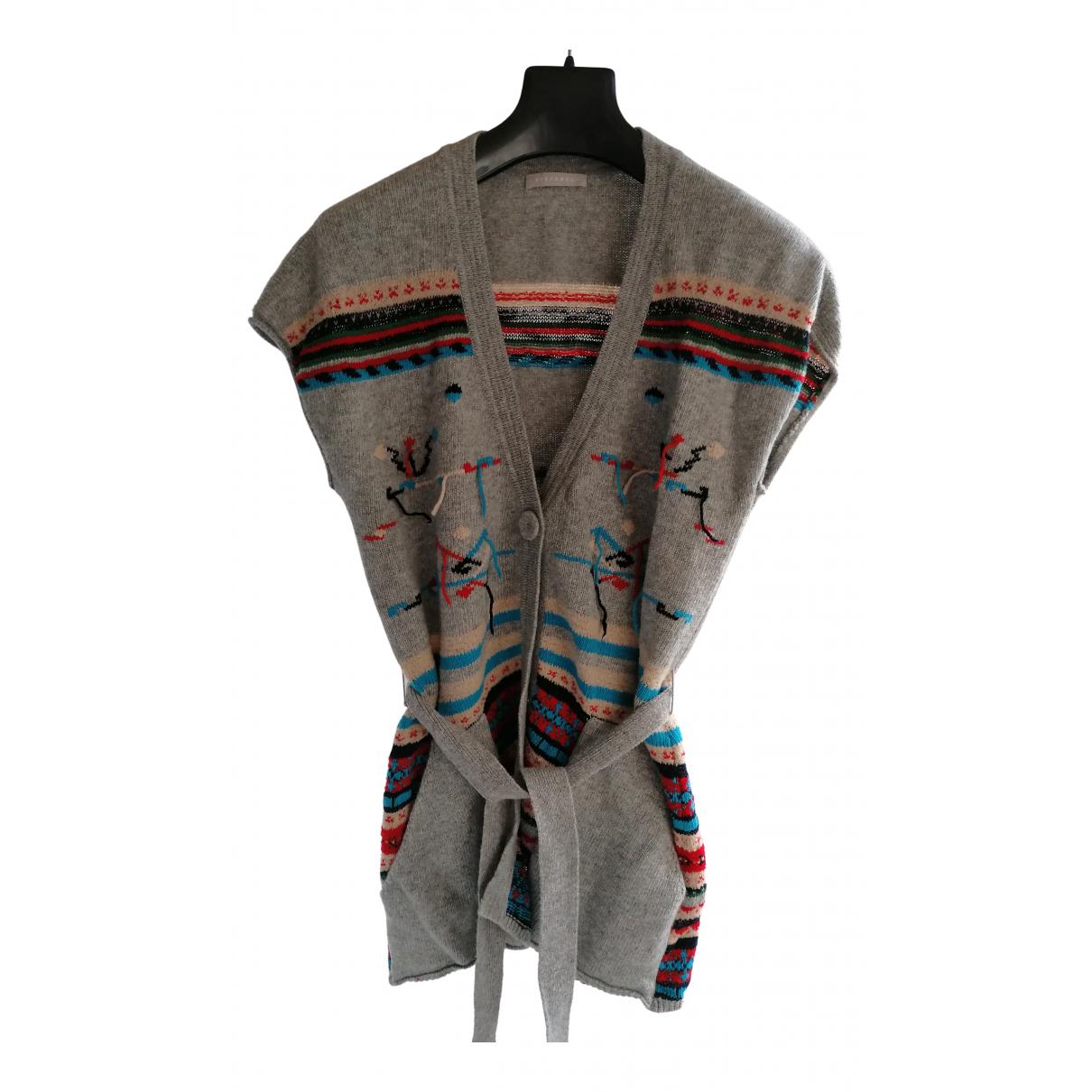 Stefanel N Grey Wool Knitwear for Women M International