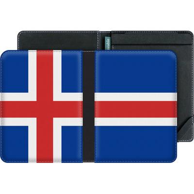 tolino vision 2 eBook Reader Huelle - Iceland Flag von caseable Designs