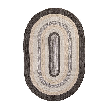 Colonial Mills Morrison Braided Oval Reversible Indoor/Outdoor Rugs, One Size , Gray