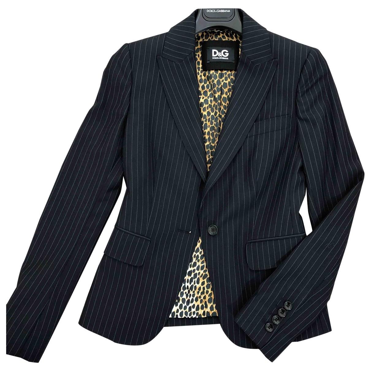 D&g \N Blue Wool jacket for Women 36 IT