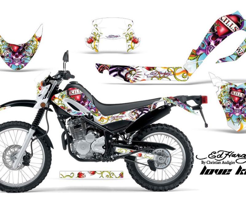 AMR Racing Dirt Bike Decal Graphic Kit MX Sticker Wrap For Yamaha XT250X 2006-2018áEDHLK WHITE