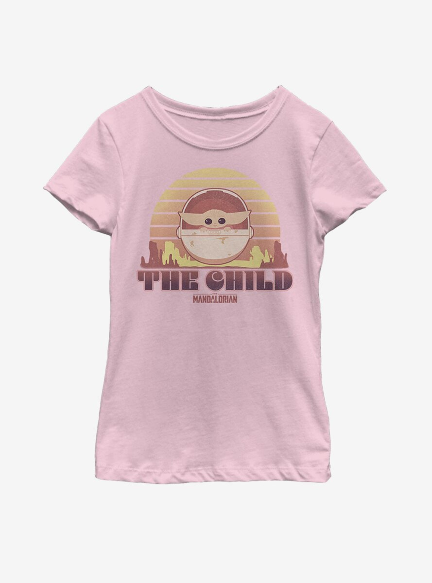 Star Wars The Mandalorian The Child Sunset Youth Girls T-Shirt