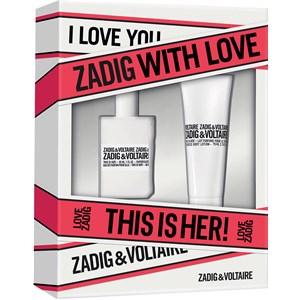 Zadig & Voltaire Parfums pour femmes This is Her! Gift set Eau de Parfum Spray 30 ml + Body Lotion 75 ml 1 Stk.
