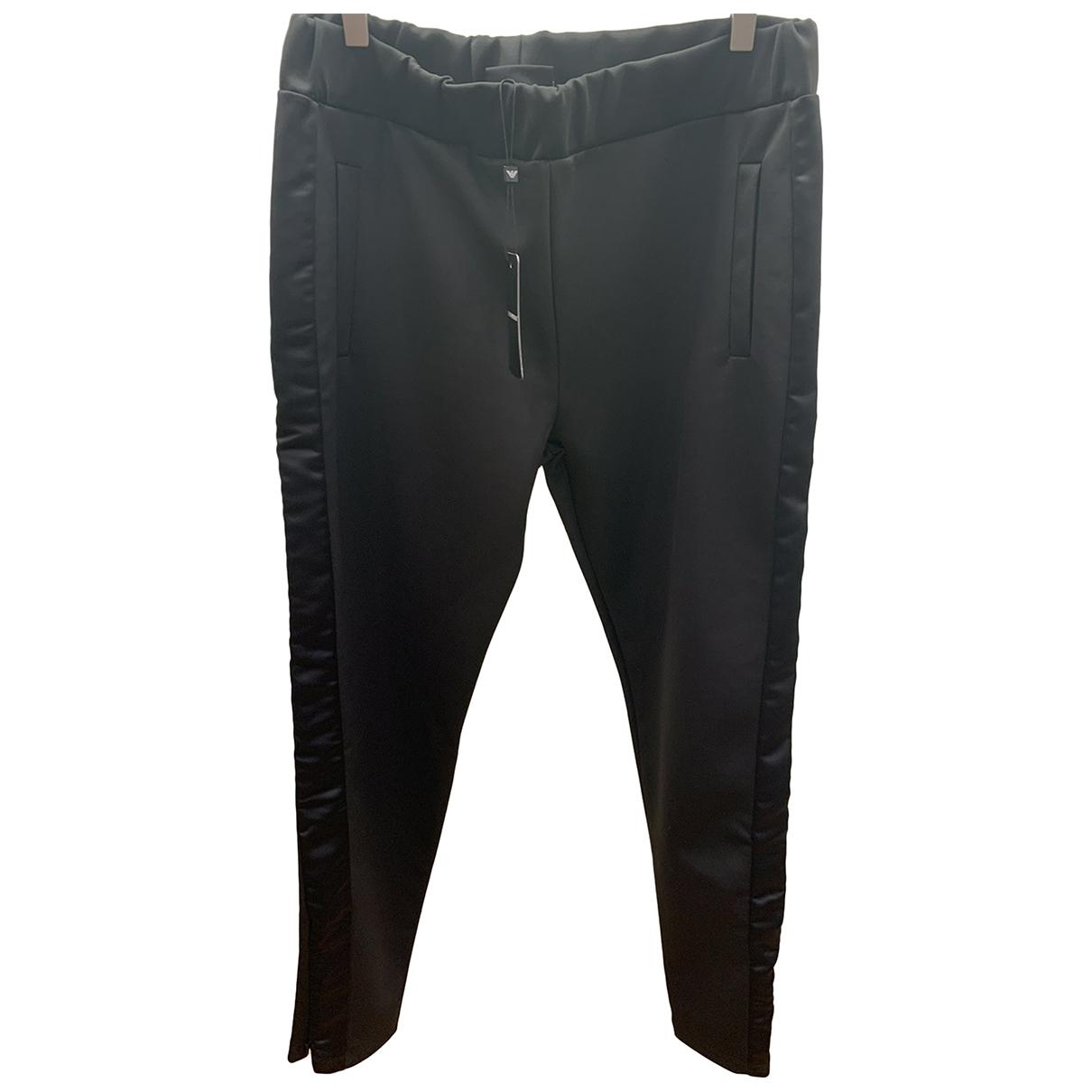 Emporio Armani \N Black Trousers for Women 46 IT