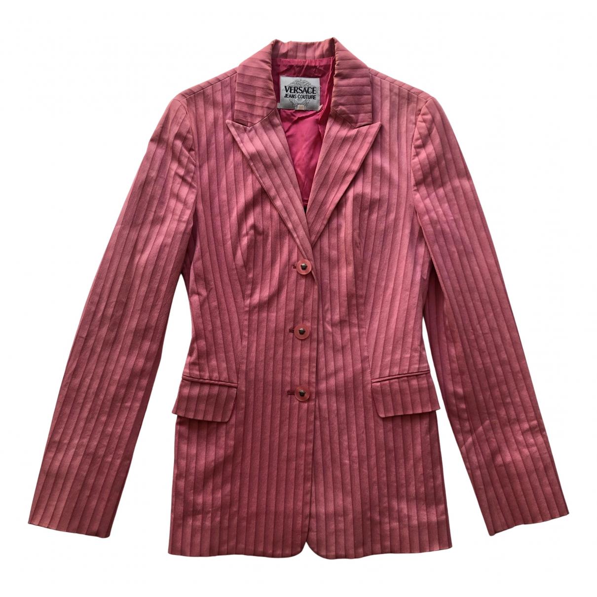 Versace Jeans \N Jacke in  Rosa Viskose