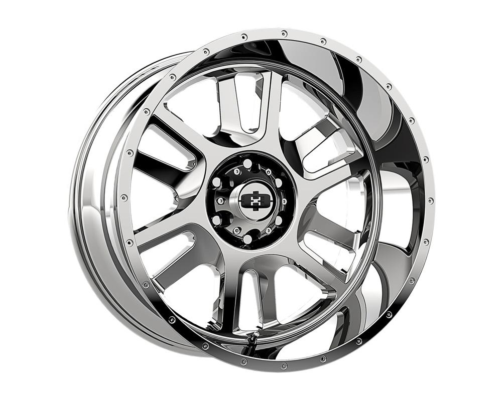 Vision Split Chrome Wheel 20x12 8x170 -51