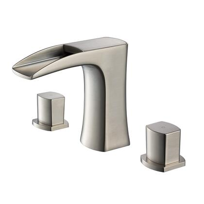 FFT3076BN Fortore Widespread Mount Bathroom Vanity Faucet - Brushed