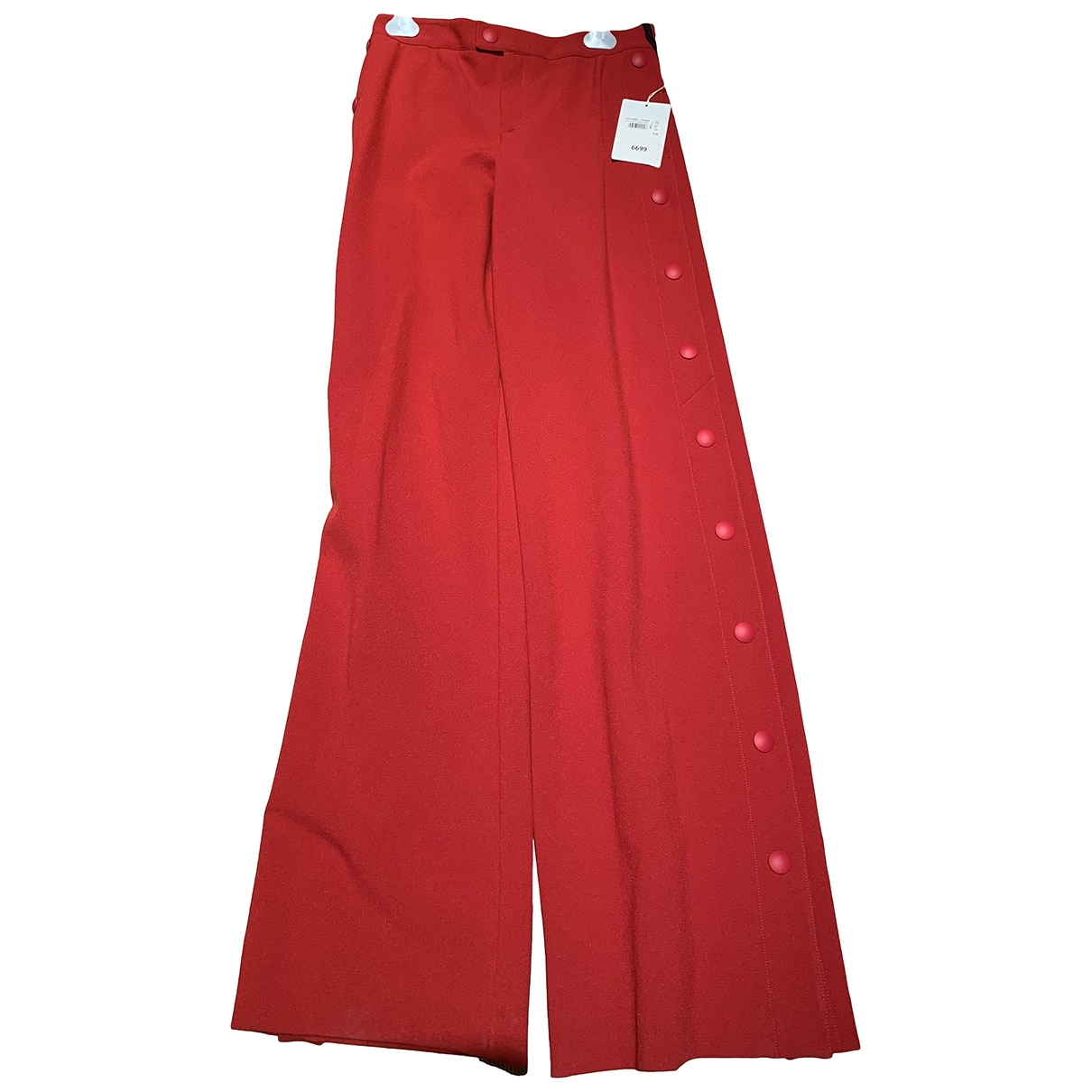 Red Valentino Garavani \N Red Cotton Trousers for Women 40 IT