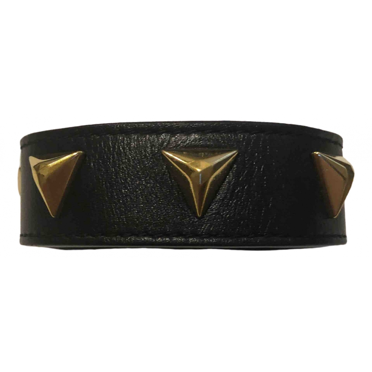 Saint Laurent \N Armband in  Schwarz Leder